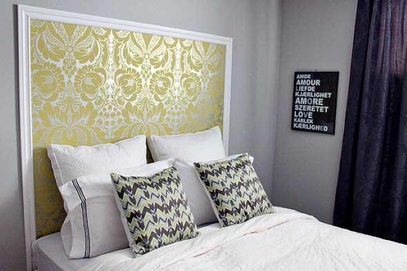 18 dicas de como usar papel de parede na cabeceira da cama for Modelos de papel pintado