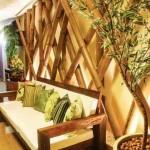 Ambientes decorados com bambu 004