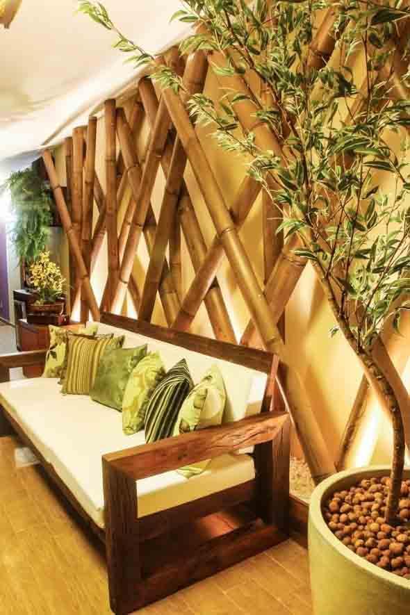 cercas de madeira para jardim goianiaAmbientes decorados com bambu