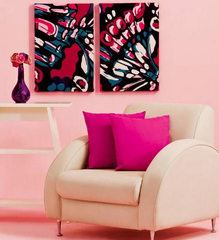 24 dicas para decorar paredes e quadros com tecidos - Decorar paredes con telas ...