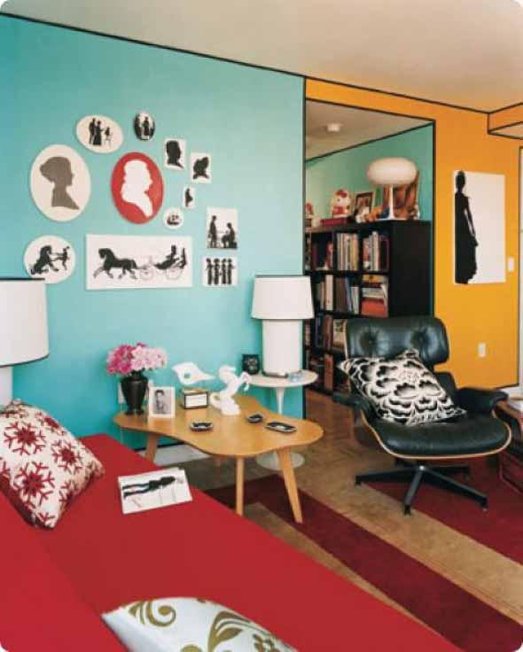 decoracao de sala jovem:dicas para decorar a sala misturando estilo retro e moderno