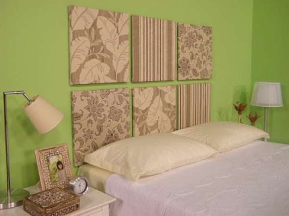 24 dicas para decorar paredes e quadros com tecidos - Pintura para tela leroy merlin ...
