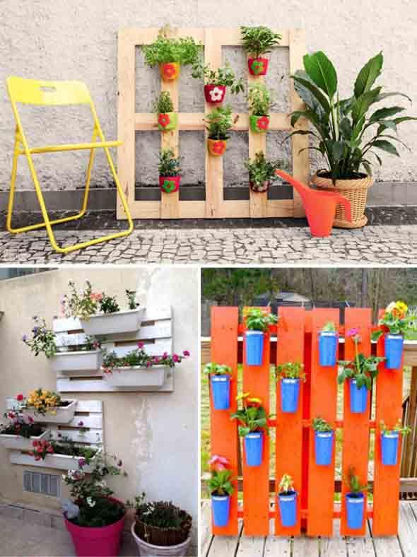 21 idéias de como usar paletes na decoraç u00e3o do jardim -> Decoração Para Jardins Com Paletes
