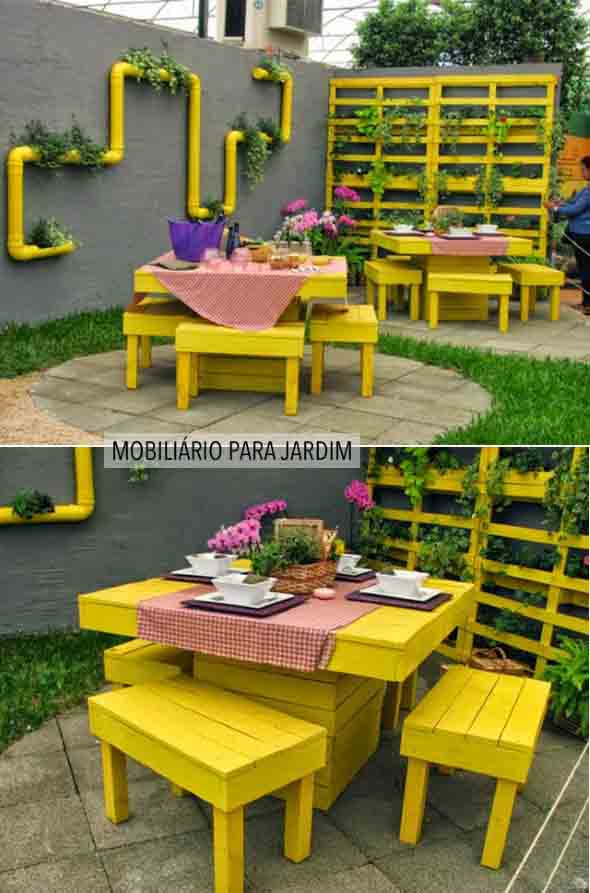 jardim vertical de paletes:Pallet Patio Furniture for Sale