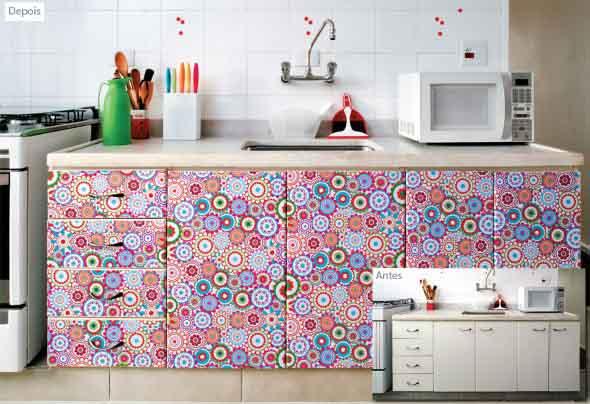 Técnicas para renovar os armários da cozinha 001