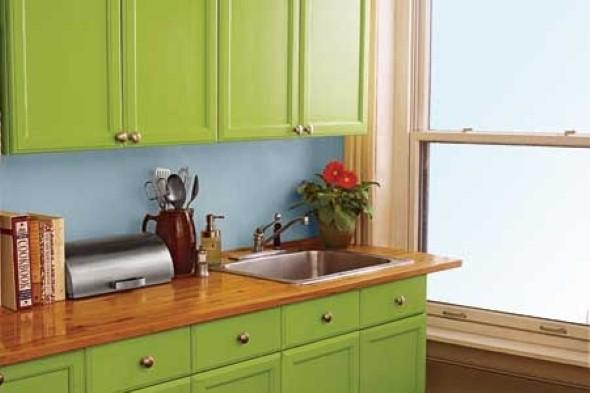 Técnicas para renovar os armários da cozinha 002