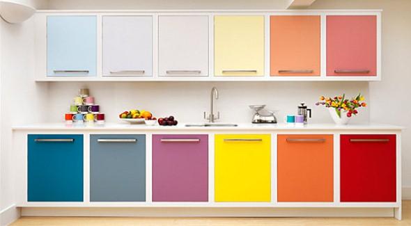 Técnicas para renovar os armários da cozinha 003