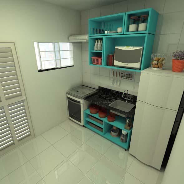 Técnicas para renovar os armários da cozinha 005
