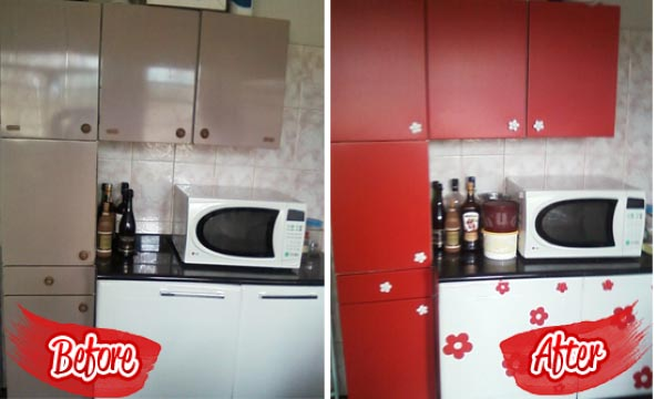Técnicas para renovar os armários da cozinha 006