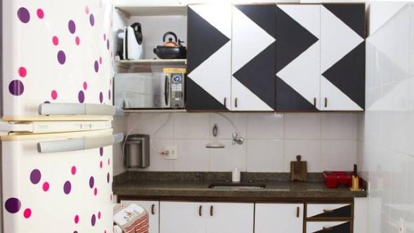 Técnicas para renovar os armários da cozinha 007