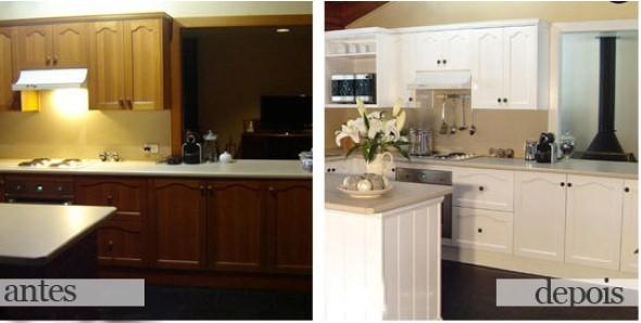 Técnicas para renovar os armários da cozinha 014