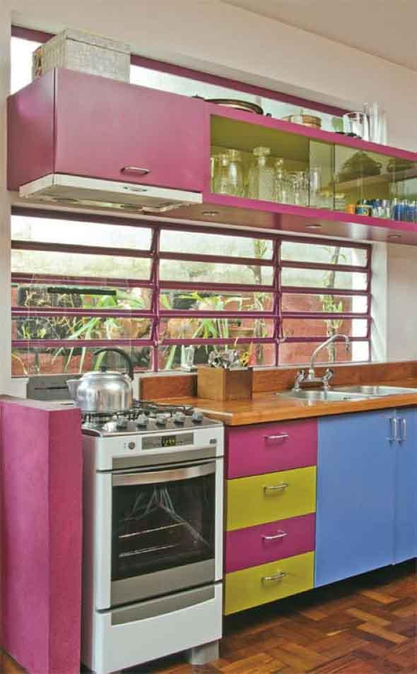 Técnicas para renovar os armários da cozinha 016