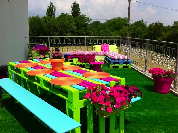Suficiente 21 idéias de como usar paletes na decoração do jardim QL97