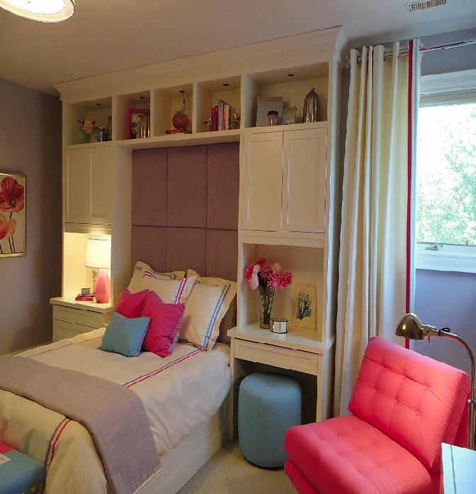 24 dicas de decoração de quarto solteiro feminino ~ Quarto Feminino Pequeno Simples