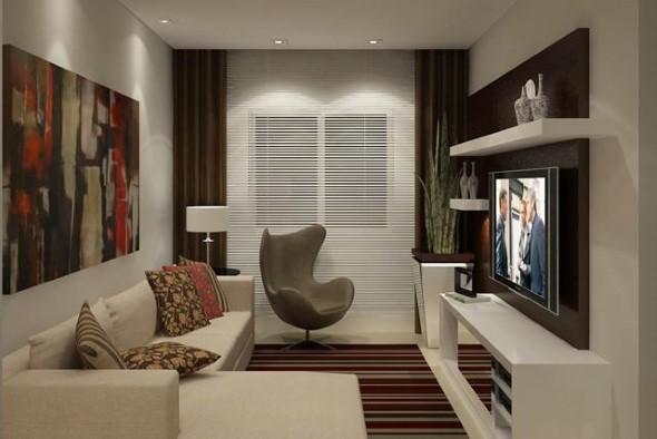 Pequena Sala De Ideias ~  de salas de estar pequenas decoradas, que vão lhes trazer ideias bem
