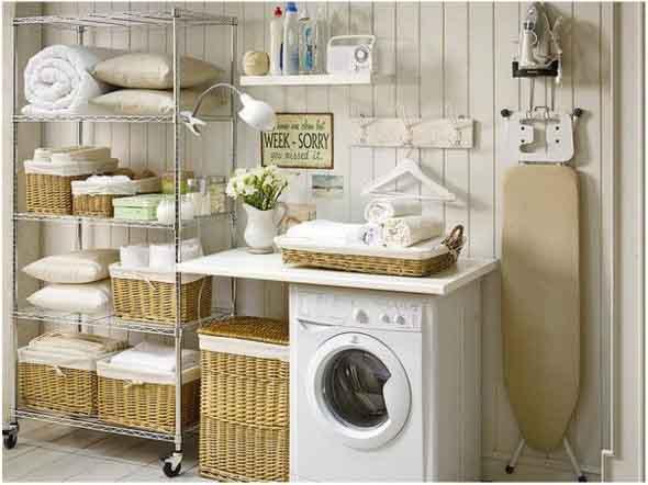 21 ideias para decorar e organizar lavanderia for Ideas para decorar y organizar la casa