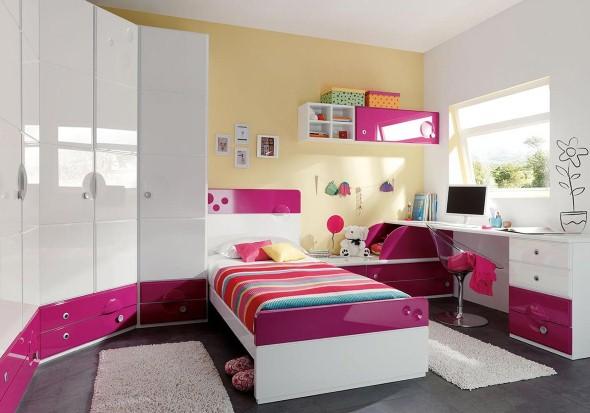 24 dicas de decora o de quarto solteiro feminino for Modelo de tapiceria para dormitorio adulto