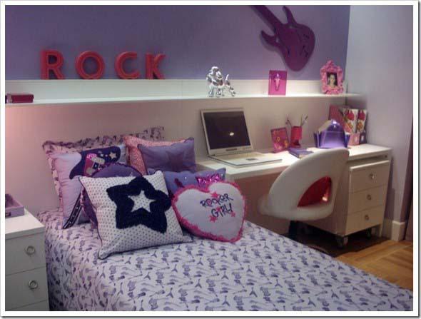 24 dicas de decoração de quarto solteiro feminino ~ Quarto Verde Malva