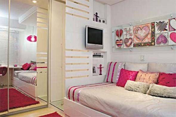 24 dicas de decora o de quarto solteiro feminino - Juegos de decorar habitaciones grandes ...
