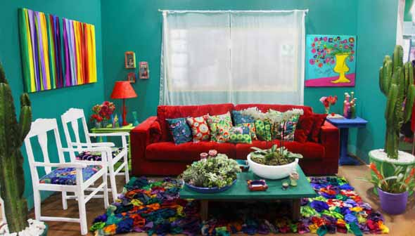 decoracao de sala pequena simples e barata21 dicas de sala colorida e