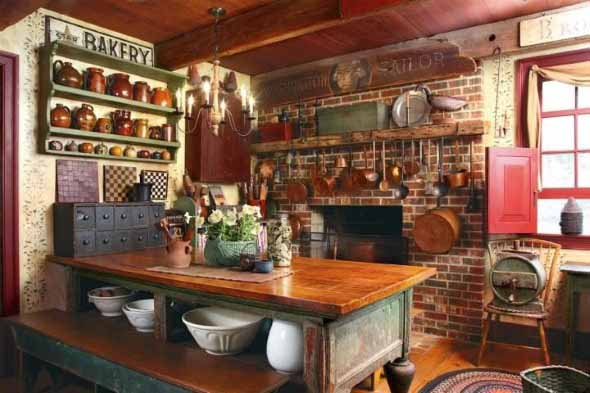 Decoração rústica na cozinha 002
