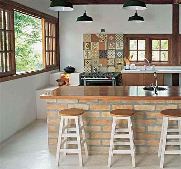 17 dicas de decora o r stica para cozinha for Paredes decoradas rusticas