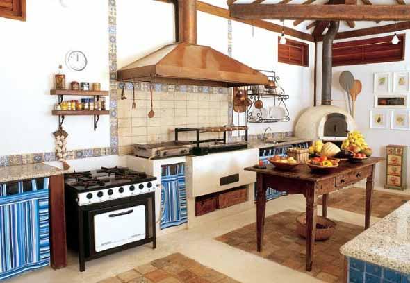 Decoração rústica na cozinha 005