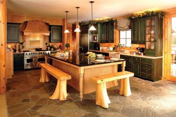 Decoração rústica na cozinha 006