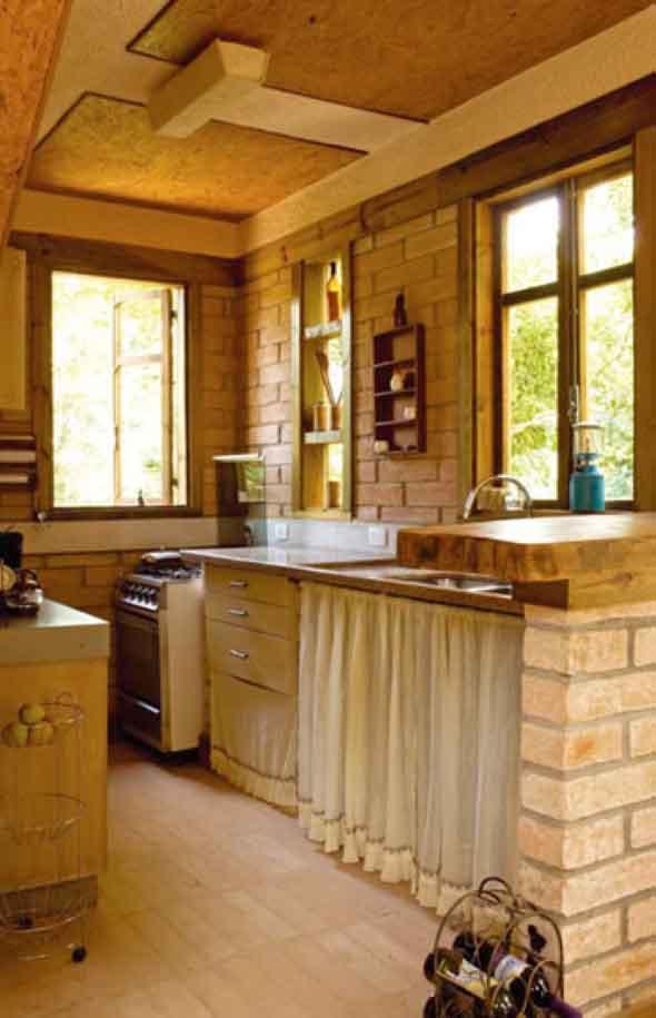 17 dicas de decora o r stica para cozinha - Pared rustica interior ...