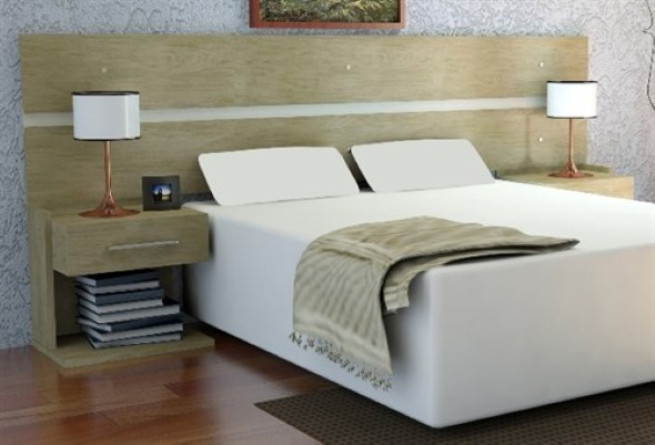 20 modelos de cabeceira de cama funcional for Modelos de cama