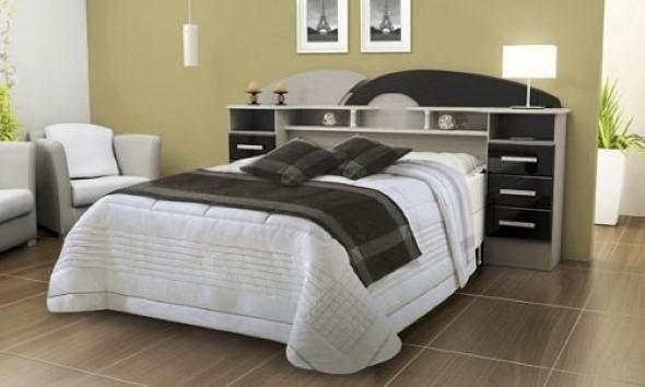 Cabeceira de cama funcional 010