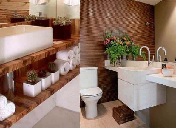 Organizando o banheiro com cachepô -> Acessorios Para Decoracao De Banheiro
