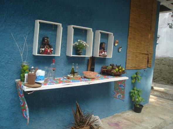 Usar gavetas como nichos decorativos 001