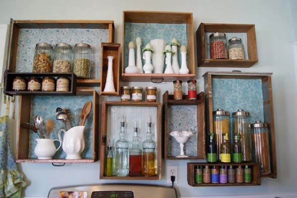 Usar gavetas como nichos decorativos 010