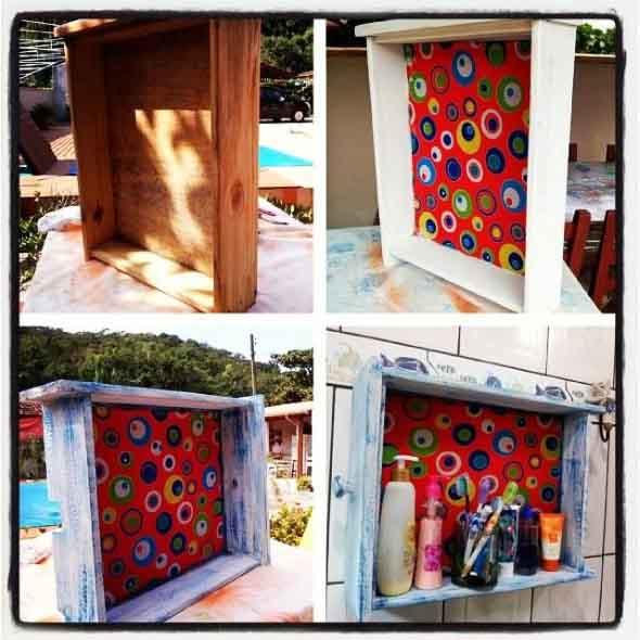 Usar gavetas como nichos decorativos 012