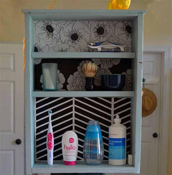Usar gavetas como nichos decorativos 013