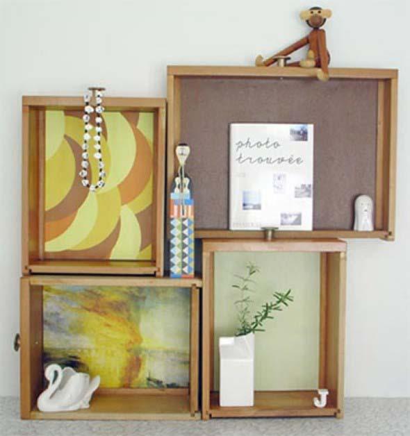 Usar gavetas como nichos decorativos 016