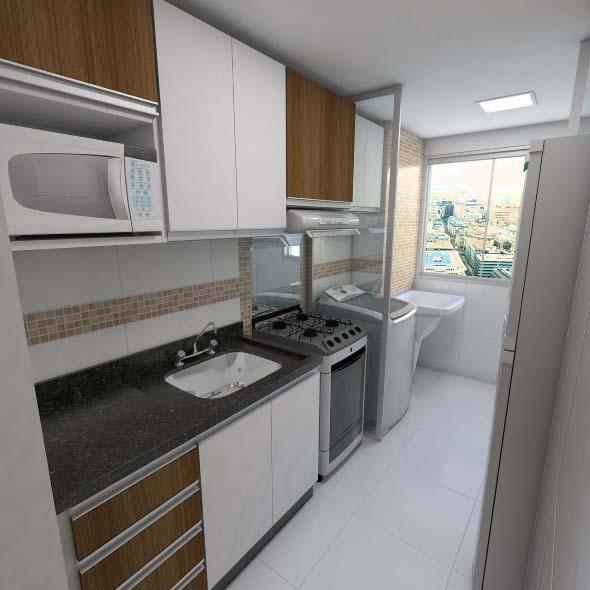 Área de serviço na cozinha 004