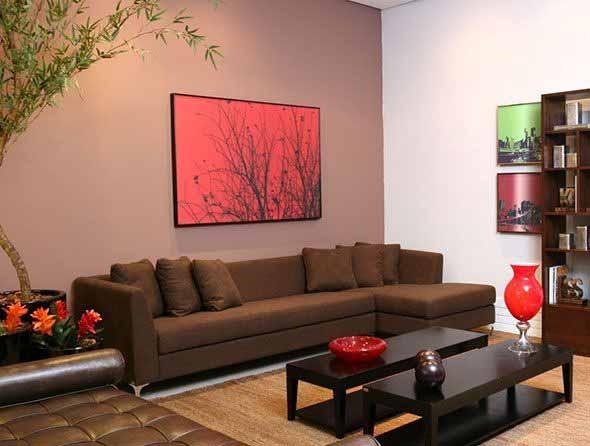 Sala De Estar Com Quadros Modernos ~ Decorar a sala de estar com quadros diversos