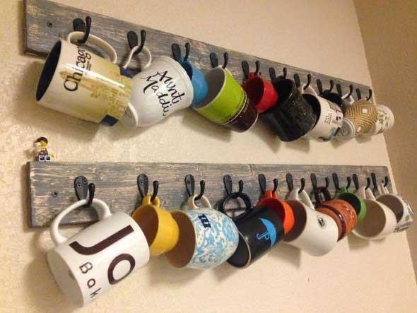 21 Maneiras Criativas De Pendurar Canecas Na Cozinha