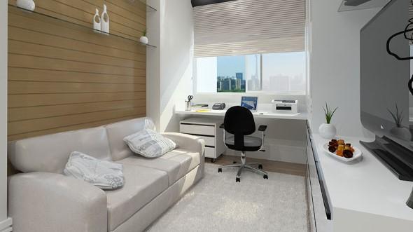 Como transformar a varanda em um escritório 002
