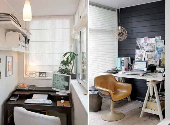 Como transformar a varanda em um escritório 005