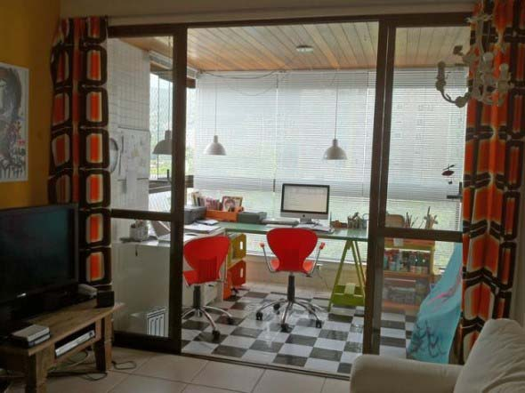 Como transformar a varanda em um escritório 006