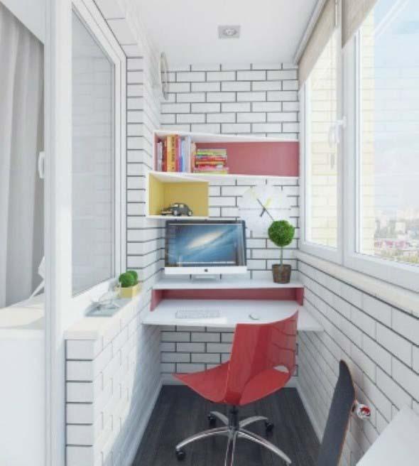 Como transformar a varanda em um escritório 014