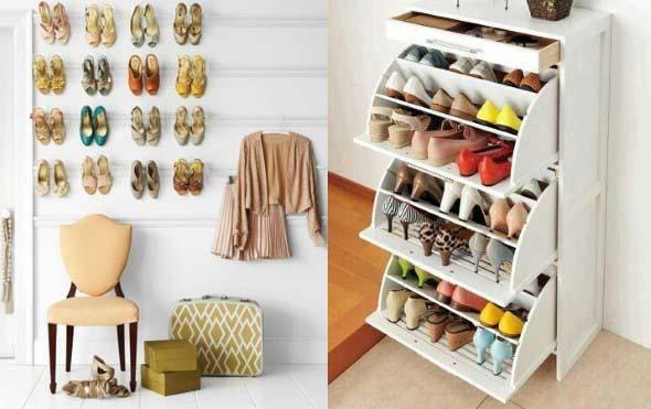 24 ideias pr ticas para guardar sapatos - Ideas para guardar zapatos en espacios pequenos ...