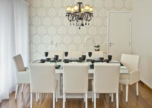 Vidro Na Sala De Jantar ~ Elegância e charme na sala de jantar 001