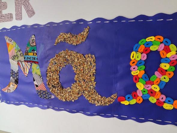 Decoraç u00e3o para o Dia das M u00e3es em escola # Decoração Dia Das Maes Escola