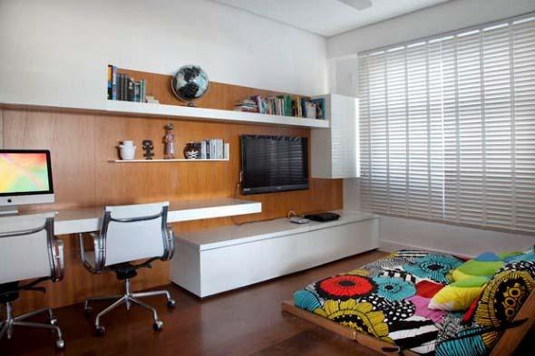 Escritório pessoal na sala de estar 003