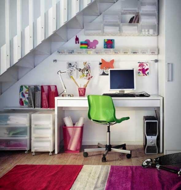 Sala De Estar Y Escritorio ~  otimizar o espaço da casa, de uma maneira prática e funcional
