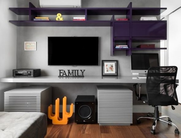 Sala Tv Home Office ~ Imagens de escritório pessoal na sala de estar